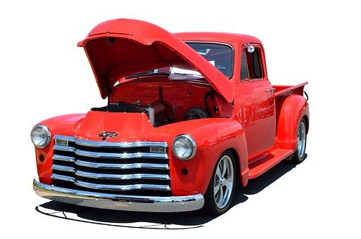 Custom Red Truck