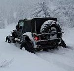 Jeep in The Mountain Snow
