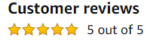 Customer Review Chart